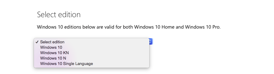 Select 'Windows 10'